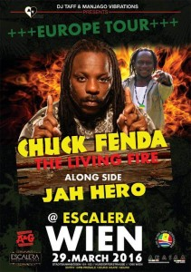 Chuck Fenda & Jah Hero live in Wien/Vienna Flyer
