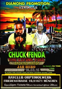 Chuck Fenda & Jah Hero live in Munich Flyer