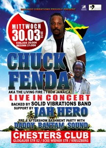Chuck Fenda & Jah Hero live in Berlin Flyer