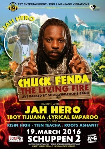 Chuck Fenda & Jah Hero live in Bremen Flyer